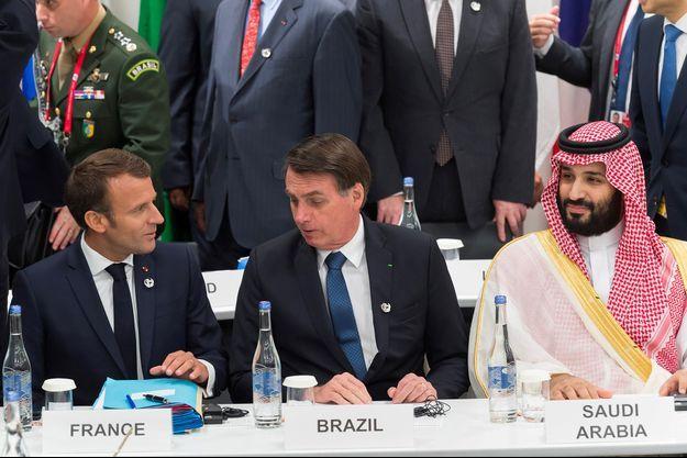 Emmanuel Macron et Jair Bolsonaro au G20 en juin dernier.