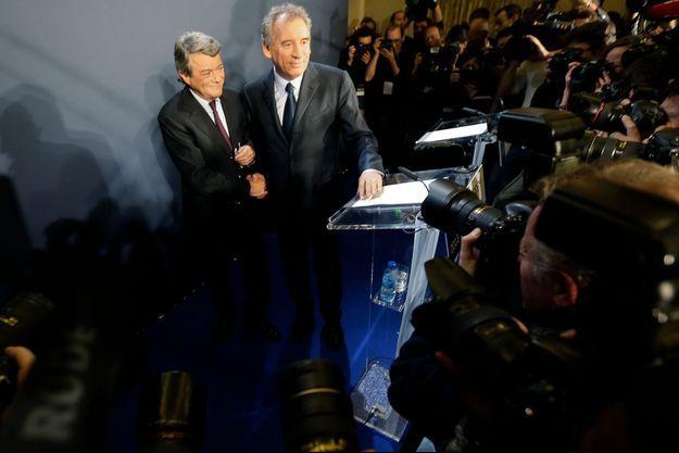Jean-Louis Borloo et François Bayrou, unis.