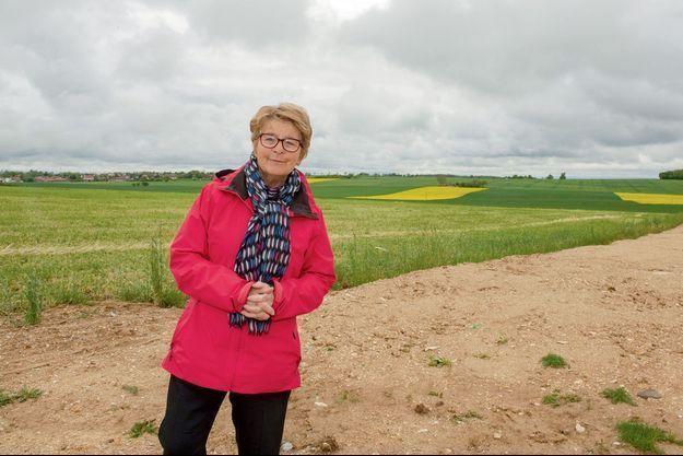 Marie-Guite Dufay sur un site de méthanisation agricole à Marsannay-le-Bois (Côte-d'Or), le 11 mai.