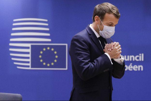 Emmanuel Macron lors du sommet européen, le 15 octobre.