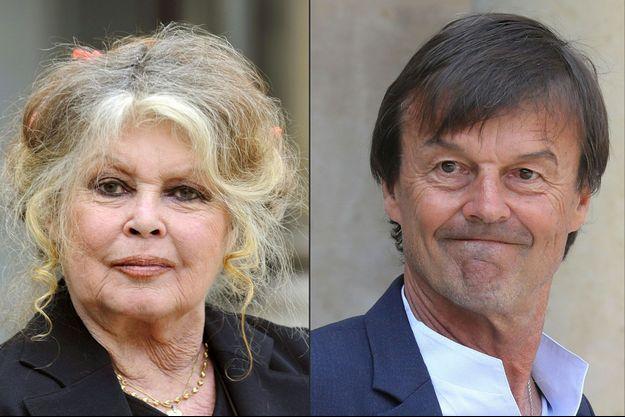 Brigitte Bardot et Nicolas Hulot (image d'illustration).