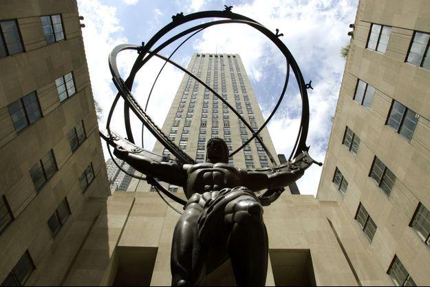 Photo de la statue d'Atlas à New York.