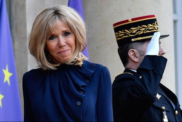 Brigitte Macron, ici à L'Elysée en mars 2019.