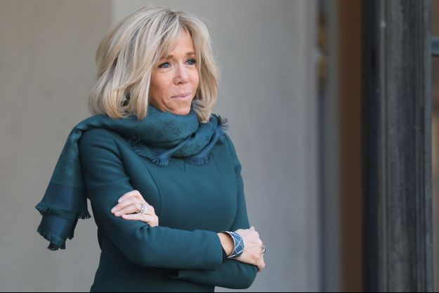 Brigitte Macron lundi à l'Elysée.