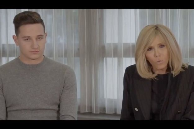 Florian Thauvin et Brigitte Macron.