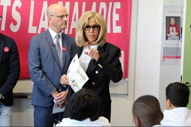 Brigitte Macron, lors de la dictée ELA l'année dernière