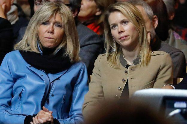 Brigitte Macron et sa fille Tiphaine Auzière en janvier 2017.