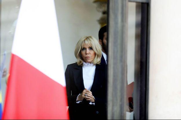 Brigitte Macron, ici à l'Elysée fin septembre.