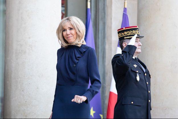 Brigitte Macron, le 29 mars à l'Elysée.