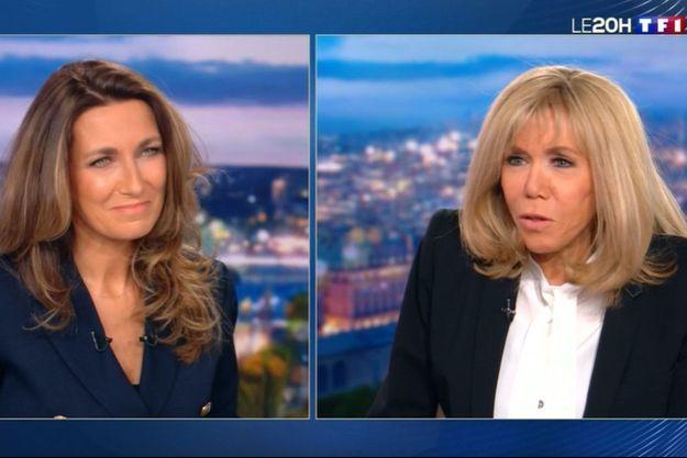 Brigitte Macron, au 20 Heures d'Anne-Claire Coudray, dimanche.