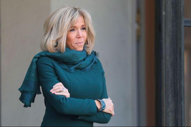 Brigitte Macron à l'Elysée le 21 janvier.