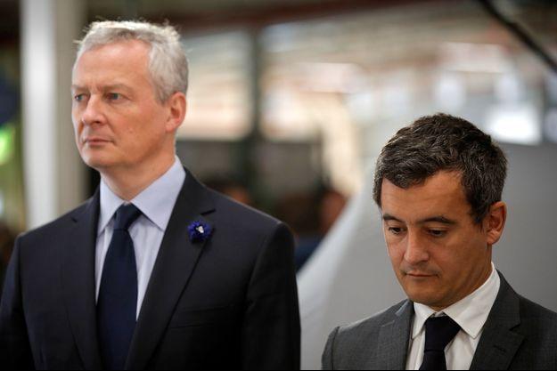 Bruno Le Maire et Gérald Darmanin, à Maubeuge, en novembre 2018.