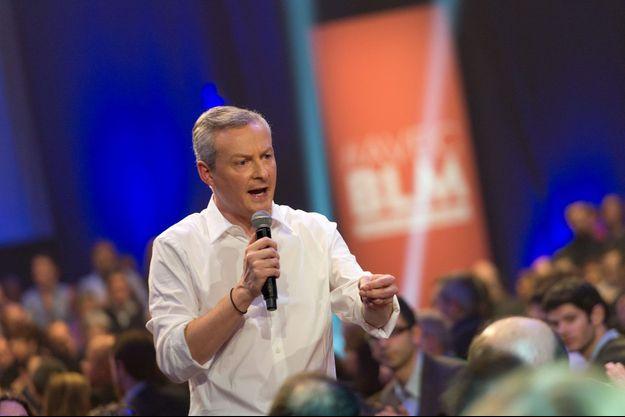 Bruno Le Maire en meeting aux Docks de Paris