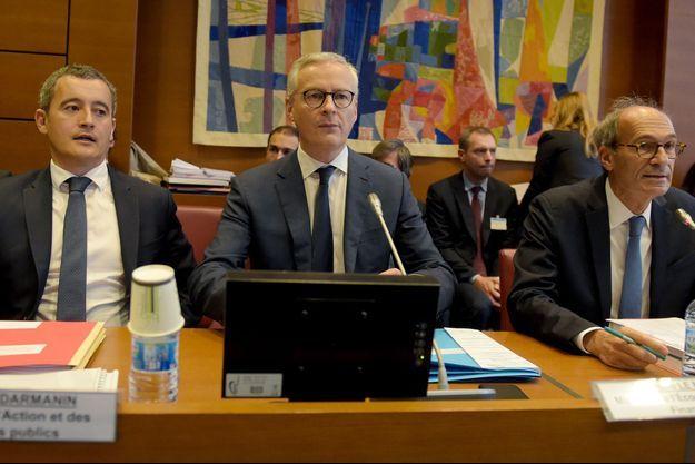 Gérald Darmanin, Bruno Le Maire et Eric Woerth, le 27 septembre 2019.
