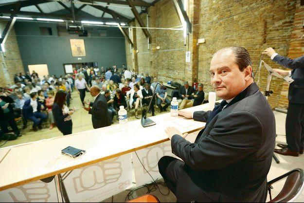 Le premier secrétaire du Parti socialiste, lors d'une réunion de sa motion, le 13 mai à Toulouse.
