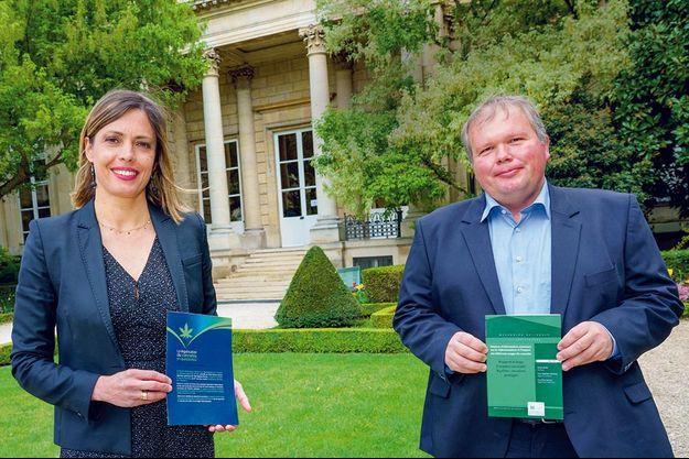 Les députés LREM Caroline Janvier et Jean-Baptiste Moreau, rapporteurs d'une mission sur le cannabis dit « récréatif ».