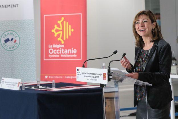 Carole Delga le 9 Janvier, 2020