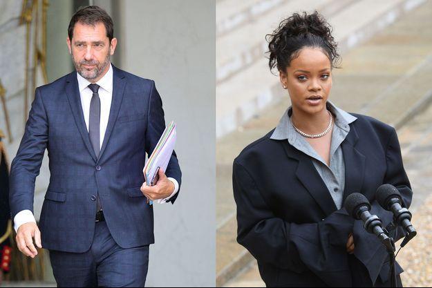 Christophe Castaner et Rihanna.