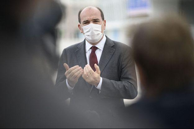 Jean Castex ici le 8 mai lors de la visite d'un centre de vaccination.
