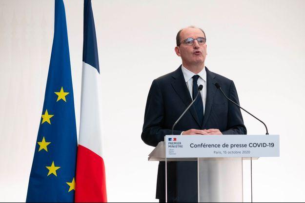 Jean Castex lors de la conférence de presse de jeudi.