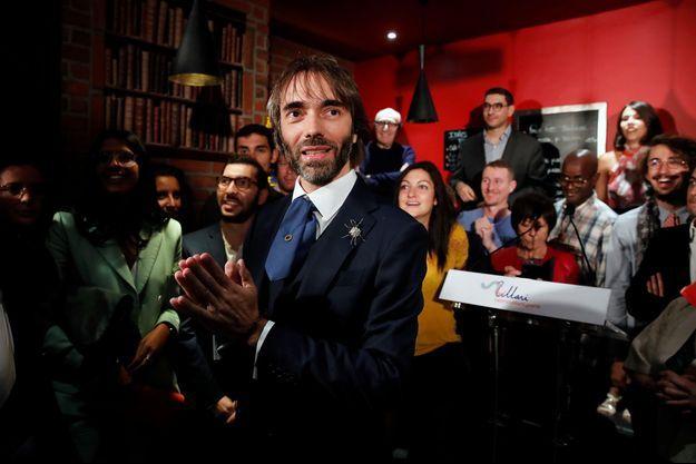 Cédric Villani lors de l'annonce de sa candidature, le 4 septembre dernier, à Paris.