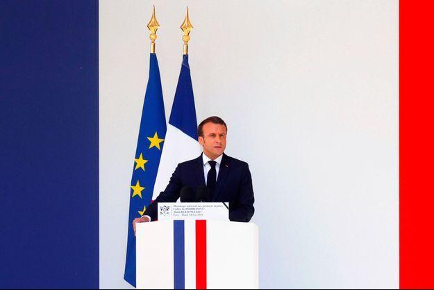 Emmanuel Macron aux Invalides, mardi.a