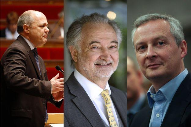 Bruno Le Roux, Jacques Attali et Bruno Le Maire.