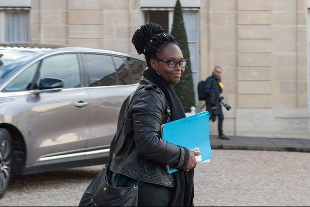 Sibeth Ndiaye , samedi à l'Elysée.