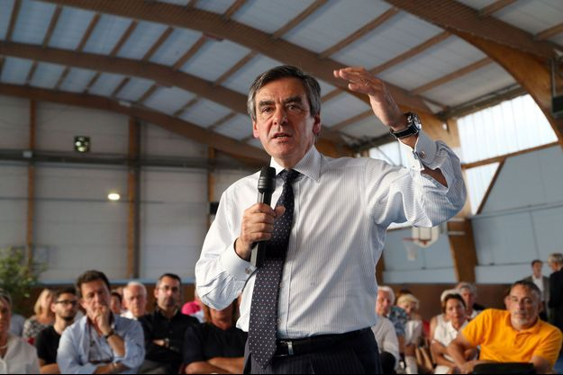 François Fillon à Saint-Gély Du Fesc, dans l'Hérault, le 25 juin.