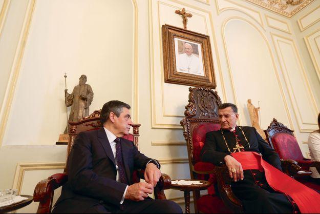 François Fillon, ici avec le patriarche maronite Bechara Boutros Rahi en 2016, s'est rendu plusieurs fois au Liban et en Irak pour aider les chrétiens d'Orient.