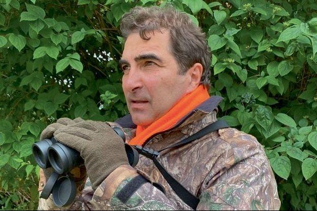 Christian Jacob lors d'une chasse à l'approche au brocard, en août 2019 à Provins (Seine-et-Marne).