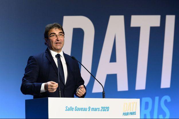 Christian Jacob, lundi dernier au meeting de Rachida Dati salle Gaveau à Paris.