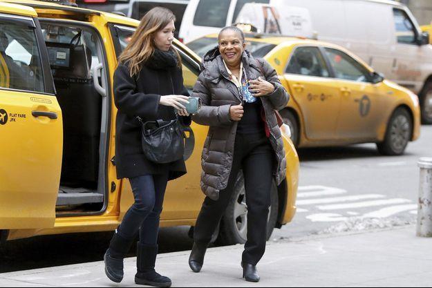 Christiane Taubira se rend au MOMA Museum à New York le 29 janvier 2016