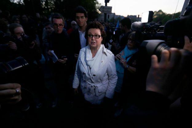 """Christine Boutin à la """"Manif pour tous"""", le 23 avril."""
