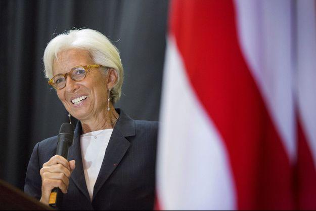 Christine Lagarde à Monrovia, vendredi.