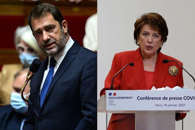 Christophe Castaner et Roselyne Bachelot.