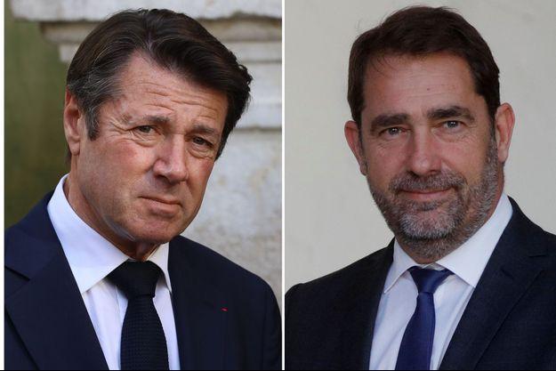"""Christian Estrosi et Christophe Castaner seront prochainement dans l'émission """"AuTableau!"""" (montage)"""