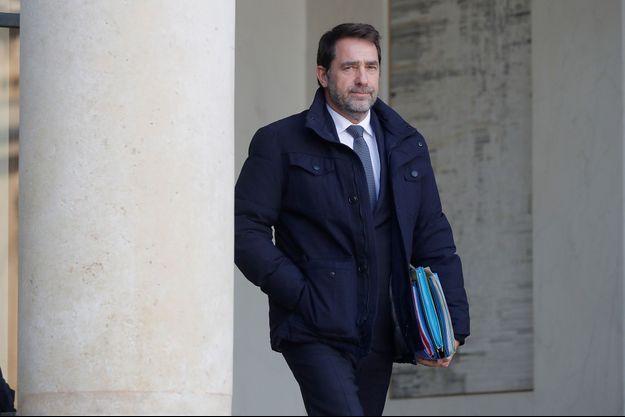 Christophe Castaner à l'Elysée, le 24 janvier 2020.