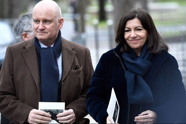 Christophe Girard et Anne Hidalgo, ici en février 2019, lors d'un hommage à Michel Legrand.