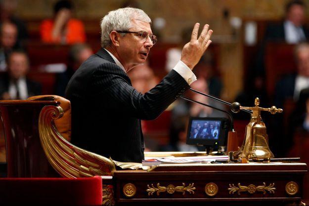 Claude Bartolone dans son fauteuil de président de l'Assemblée, le 22 octobre.