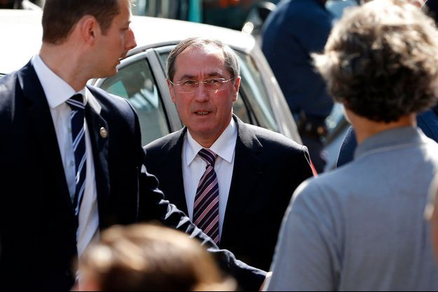Claude Guéant, le 8 juillet dernier, lors du bureau national extraordinaire de l'UMP auquel a participé Nicolas Sarkozy.