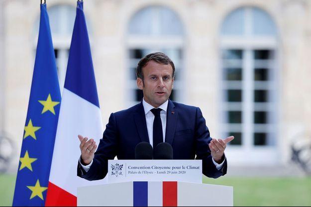 Emmanuel Macron le 29 juin 2020.