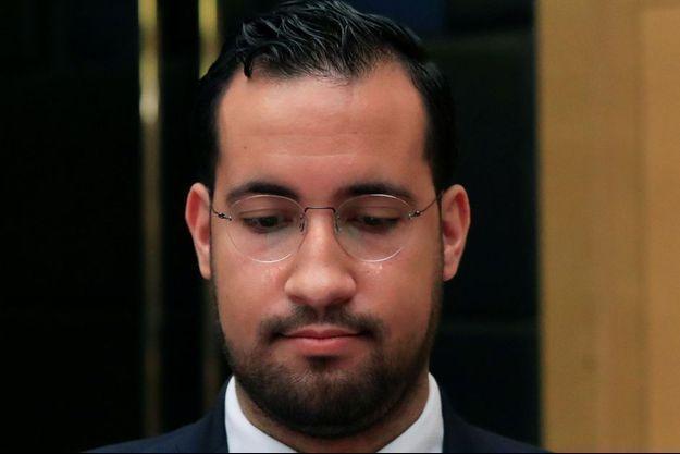 Alexandre Benalla devant la Commission des lois du Sénat le 13 septembre 2018.