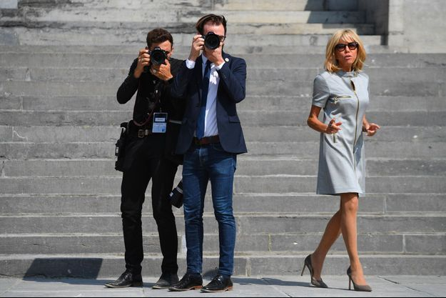 Brigitte Macron le 12 juillet dernier à Tervuren, près de Bruxelles, en Belgique.