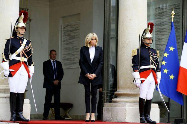 Brigitte Macron, ici à l'Elysée le 25 septembre.