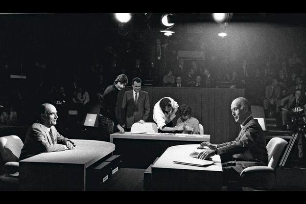 François Mitterrand et Valéry Giscard d'Estaing, en 1981.