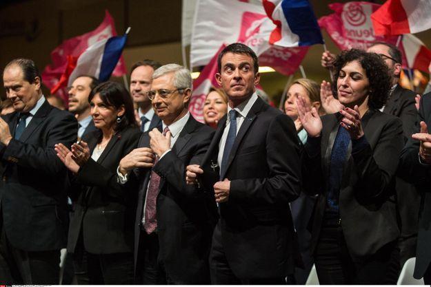 Le meeting d'avant premier tour des élections de Claude Bartolone, à Paris, le 3 décembre.