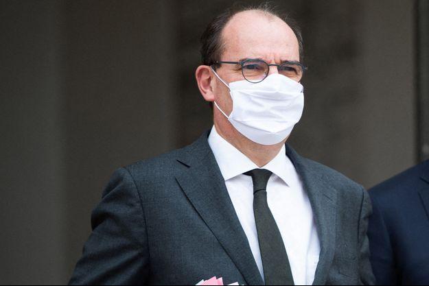 Jean Castex, mercredi lors de la sortie du Conseil des ministres.