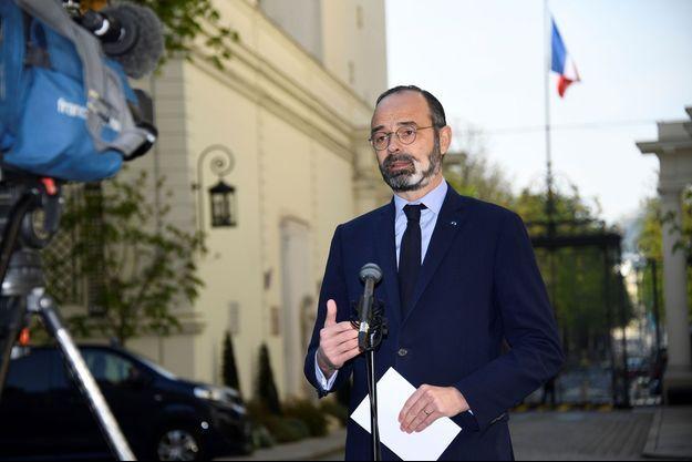 Edouard Philippe au ministère de l'Intérieur, vendredi.