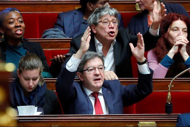 Jean-Luc Mélenchon à l'Assemblée nationale le 30 janvier dernier.